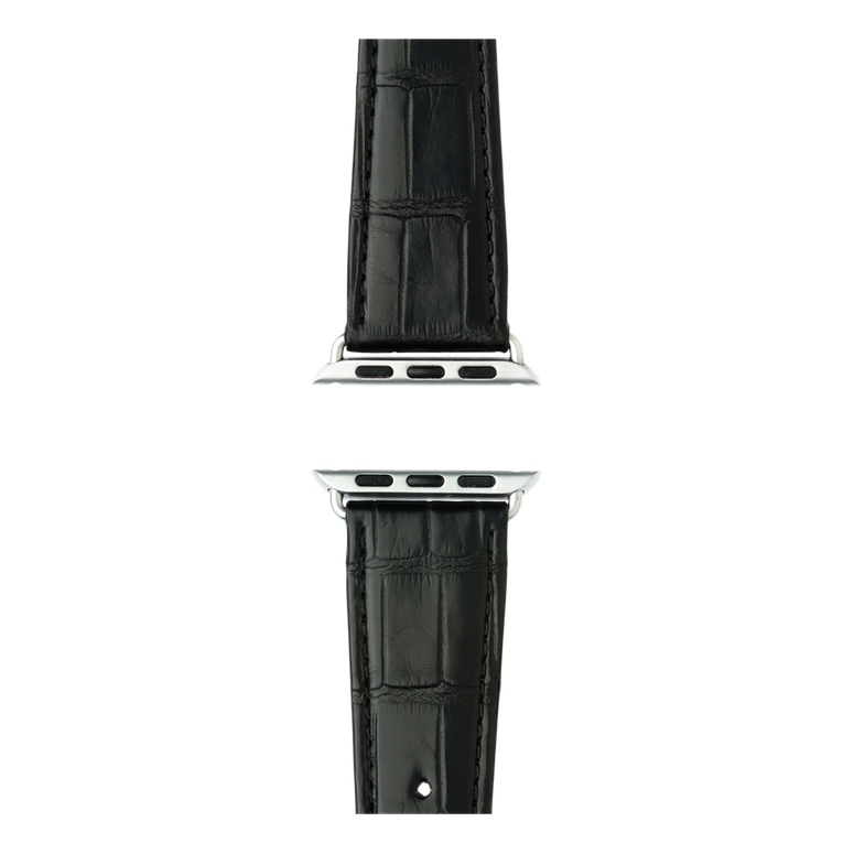 Apple Watch band alligator leather black | Roobaya – Bild 4