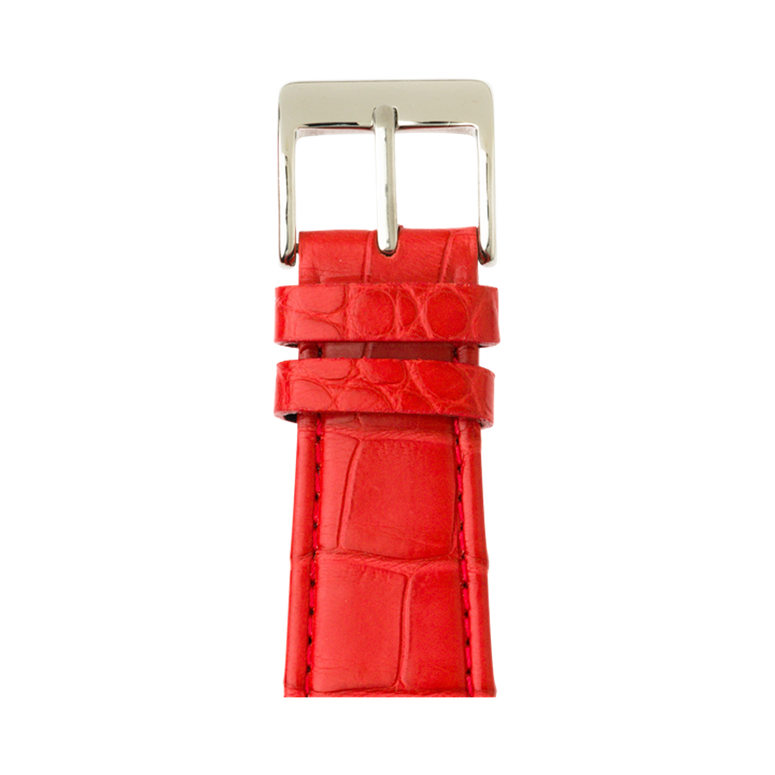 Correa para Apple Watch de piel alligator en rojo | Roobaya – Bild 1