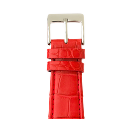 Correa para Apple Watch de piel alligator en rojo | Roobaya