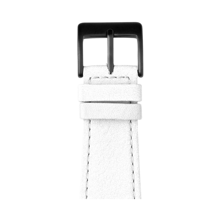 Nappa leather watch band in white for the Apple Watch Series 1, 2, 3 & 4 in size 38mm, 40mm, 42mm & 44mm by Roobaya - Made in Germany – Bild 2