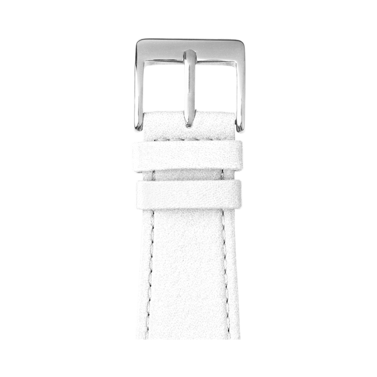 Nappa leather watch band in white for the Apple Watch Series 1, 2, 3 & 4 in size 38mm, 40mm, 42mm & 44mm by Roobaya - Made in Germany – Bild 1