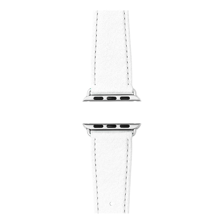 Nappa leather watch band in white for the Apple Watch Series 1, 2, 3 & 4 in size 38mm, 40mm, 42mm & 44mm by Roobaya - Made in Germany – Bild 4