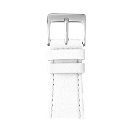Nappa leather watch band in white for the Apple Watch Series 1, 2, 3 & 4 in size 38mm, 40mm, 42mm & 44mm by Roobaya - Made in Germany