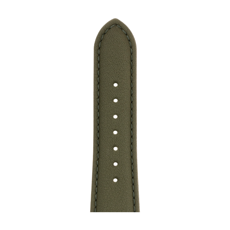 Nappa leather watch band in olive green for the Apple Watch Series 1, 2, 3 & 4 in size 38mm, 40mm, 42mm & 44mm by Roobaya - Made in Germany – Bild 5