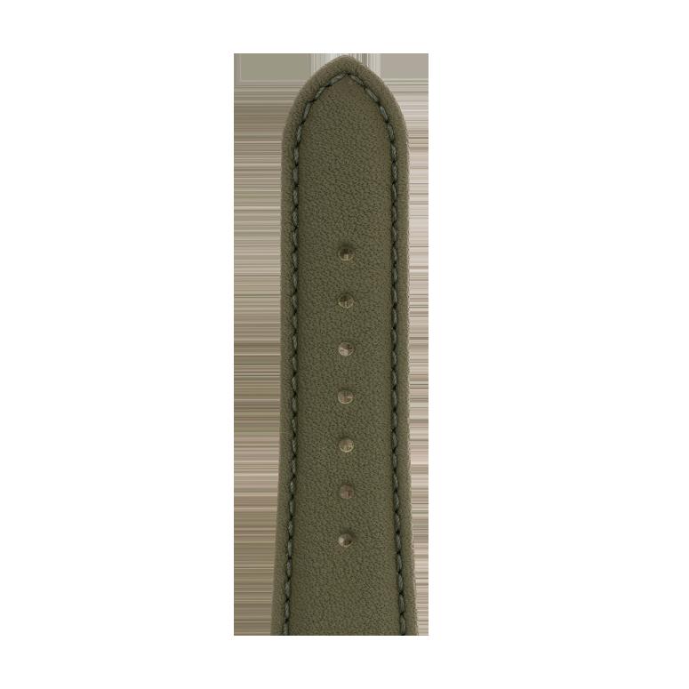 Bracelet Apple Watch cuir nappa vert olive | Roobaya – Bild 5