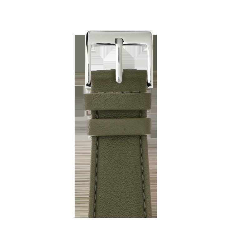 Bracelet Apple Watch cuir nappa vert olive | Roobaya – Bild 1