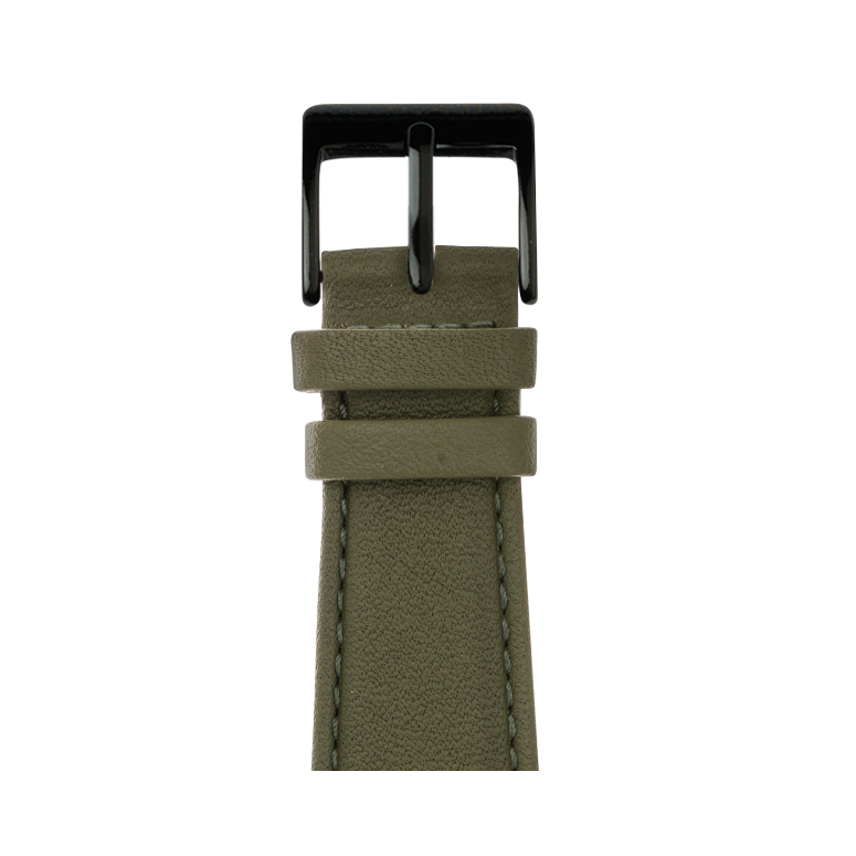 Nappa leather watch band in olive green for the Apple Watch Series 1, 2, 3 & 4 in size 38mm, 40mm, 42mm & 44mm by Roobaya - Made in Germany – Bild 2