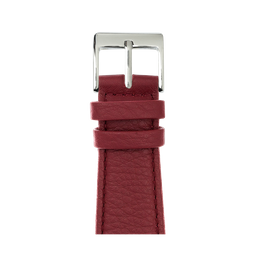 Nappa leather watch band in burgundy for the Apple Watch Series 1, 2, 3 & 4 in size 38mm, 40mm, 42mm & 44mm by Roobaya - Made in Germany