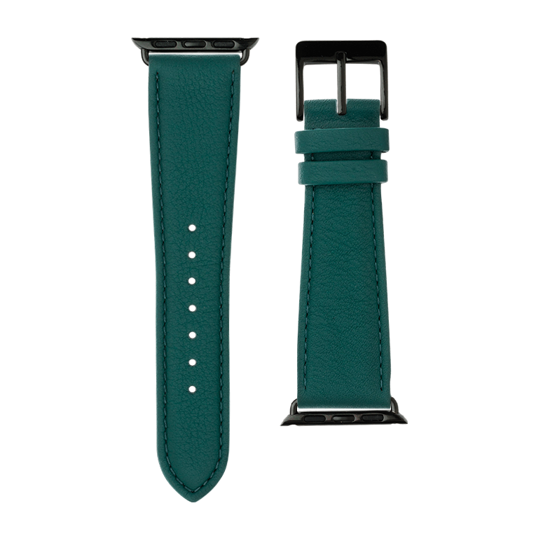 Apple Watch band nappa leather dark green | Roobaya – Bild 3