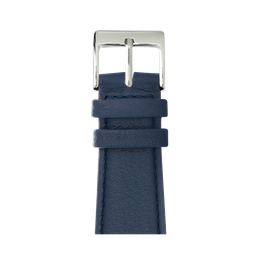 Nappa leather watch band in dark blue for the Apple Watch Series 1, 2, 3 & 4 in size 38mm, 40mm, 42mm & 44mm by Roobaya - Made in Germany