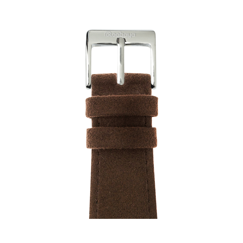 Correa para Apple Watch de Alcantara en Marron Oscuro | Roobaya – Bild 1