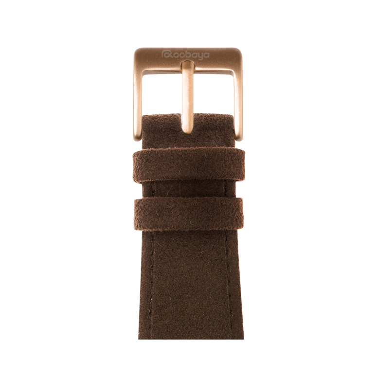 Cinturino Apple Watch in Alcantara Cognac | Roobaya – Bild 2