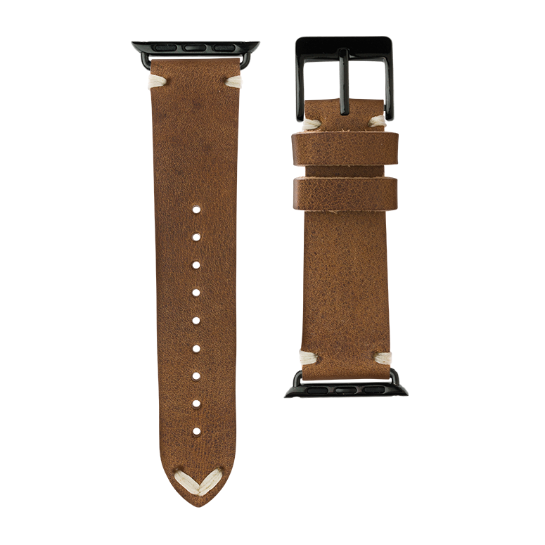 Apple Watch band vintage leather cognac | Roobaya – Bild 3