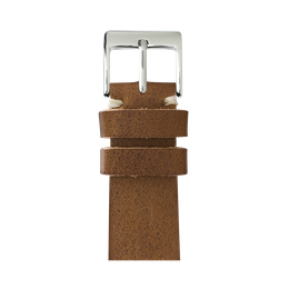 Vintage Leder Armband in Cognac für die Apple Watch Series 1, 2, 3 & 4 in 38mm, 40mm, 42mm & 44mm Gehäusegröße von Roobaya - Made in Germany