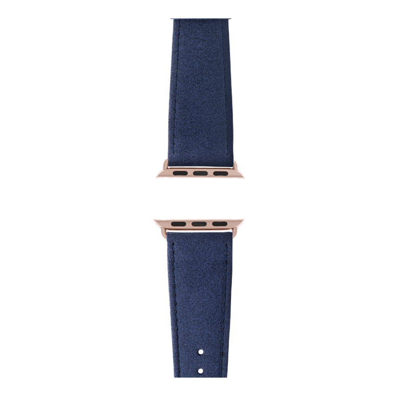 Cinturino Apple Watch in Alcantara Blu | Roobaya – Bild 4