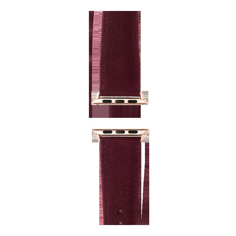 Cinturino Apple Watch in Alcantara vino rosso | Roobaya – Bild 4