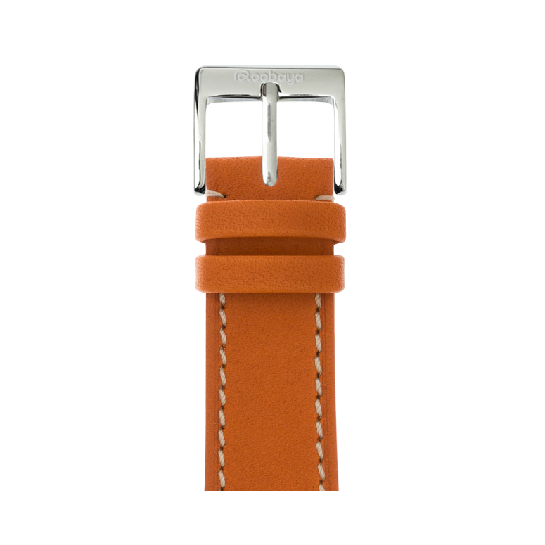 Bracelet Apple Watch cuir french calf Orange | Roobaya – Bild 1