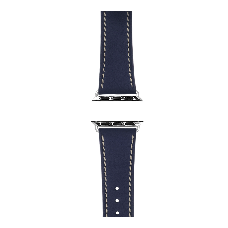 Apple Watch band french calf leather dark blau | Roobaya – Bild 4