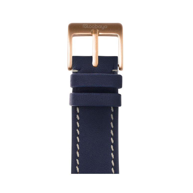 Correa para Apple Watch de piel french calf en azul oscuro | Roobaya – Bild 2