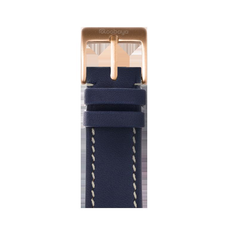 Bracelet Apple Watch cuir french calf bleu foncé | Roobaya – Bild 2