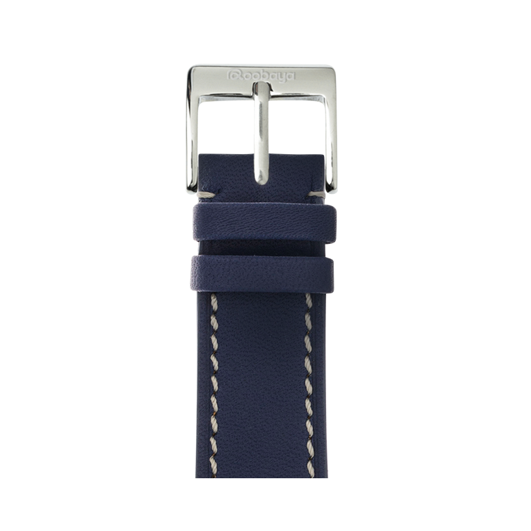 Correa para Apple Watch de piel french calf en azul oscuro | Roobaya – Bild 1