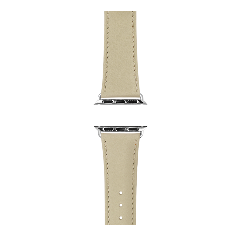Apple Watch band french calf leather sand | Roobaya – Bild 4