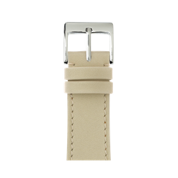 French Calf Leder Armband in Sand für die Apple Watch Series 1, 2, 3 & 4 in 38mm, 40mm, 42mm & 44mm Gehäusegröße von Roobaya - Made in Germany