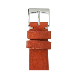 Vintage Leder Armband in Orange für die Apple Watch Series 1, 2, 3 & 4 in 38mm, 40mm, 42mm & 44mm Gehäusegröße von Roobaya - Made in Germany