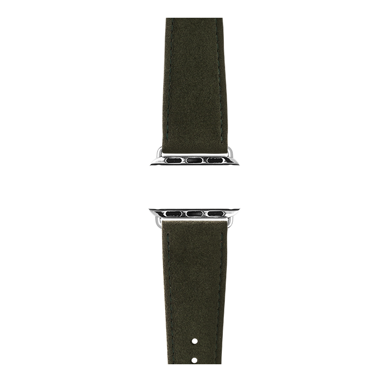 Cinturino Apple Watch in Alcantara Verde Scuro | Roobaya – Bild 4