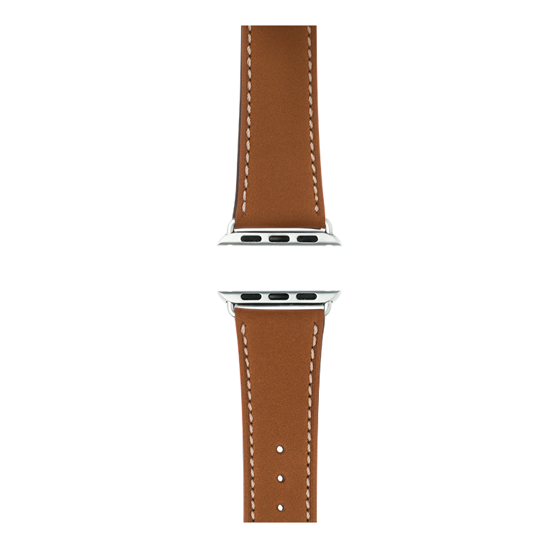 Cinturino Apple Watch in pelle french calf cognac | Roobaya – Bild 4