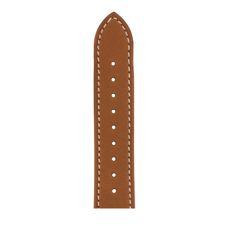 French Calf Leder Armband in Cognac für die Apple Watch Series 1, 2, 3 & 4 in 38mm, 40mm, 42mm & 44mm Gehäusegröße von Roobaya - Made in Germany – Bild 5