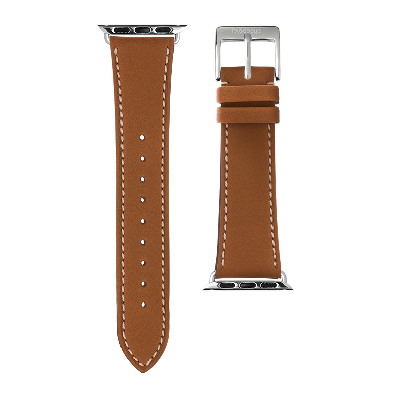 Cinturino Apple Watch in pelle french calf cognac | Roobaya – Bild 3