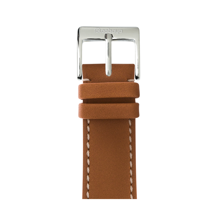 Cinturino Apple Watch in pelle french calf cognac | Roobaya – Bild 1