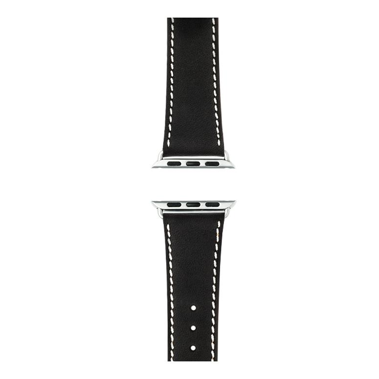 Apple Watch band french calf leather graphite | Roobaya – Bild 4
