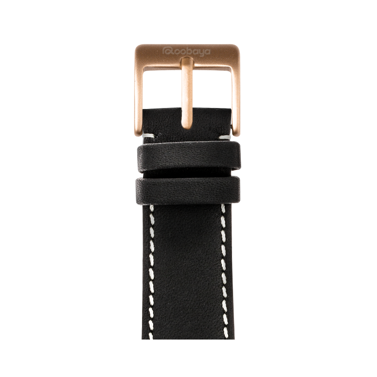 Apple Watch band french calf leather graphite | Roobaya – Bild 2