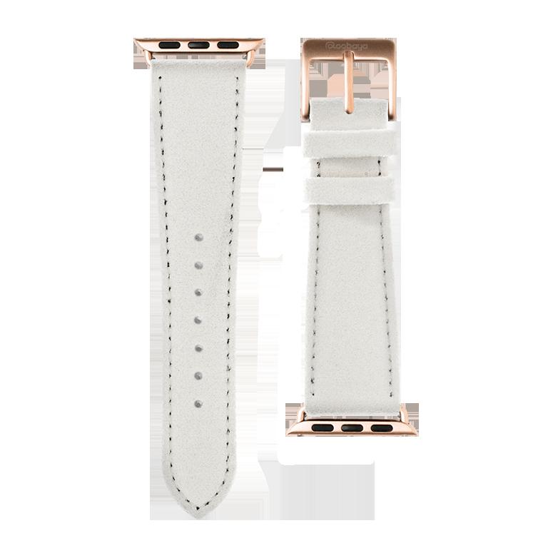 Cinturino Apple Watch in Alcantara Bianco | Roobaya – Bild 3