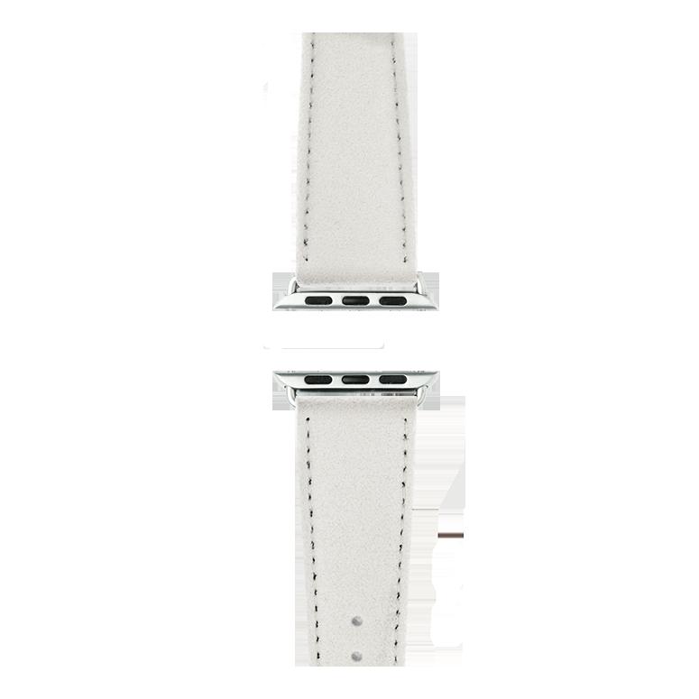 Cinturino Apple Watch in Alcantara Bianco | Roobaya – Bild 4