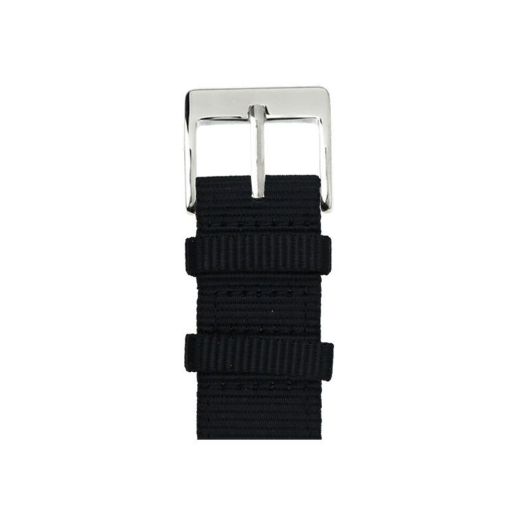 Nylon Watch band in black for the Apple Watch Series 1, 2, 3 & 4 in 38mm, 40mm, 42mm & 44mm case size by Roobaya - Made in Germany – Bild 1