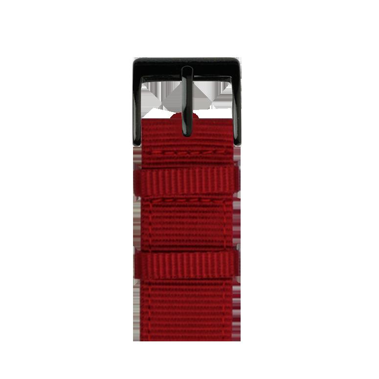 Nylon Armband in Rot für die Apple Watch Series 1, 2, 3 & 4 in 38mm, 40mm, 42mm & 44mm Gehäusegröße von Roobaya - Made in Germany – Bild 2