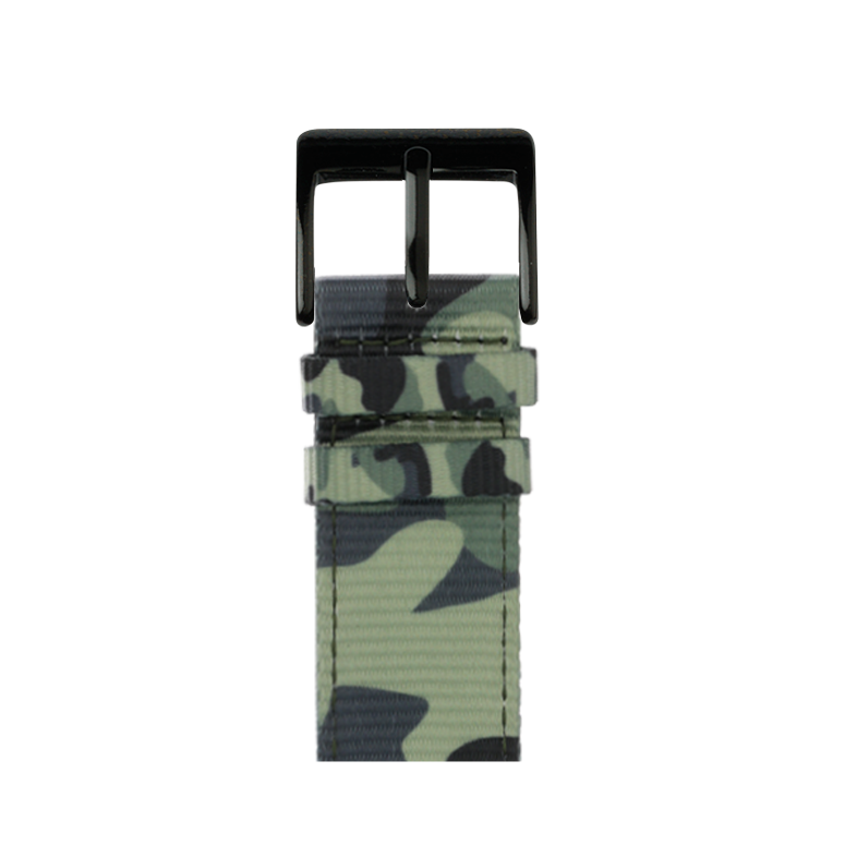 Nylon Armband Heavy Duty in Camouflage für die Apple Watch Series 1, 2, 3 & 4 in 38mm, 40mm, 42mm & 44mm Gehäusegröße von Roobaya - Made in Germany – Bild 2