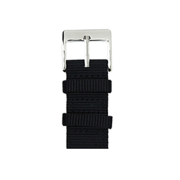 Nylon Armband Heavy Duty in Schwarz für die Apple Watch Series 1, 2, 3 & 4 in 38mm, 40mm, 42mm & 44mm Gehäusegröße von Roobaya - Made in Germany