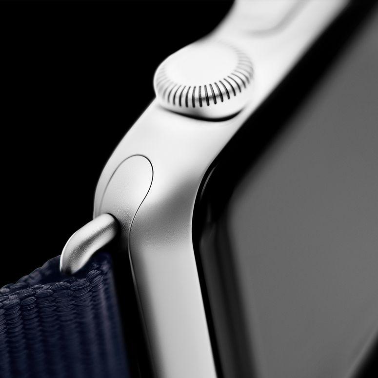Bracelet Apple Watch nylon bleu foncé/blanc | Roobaya – Bild 4