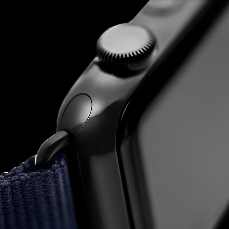 Bracelet Apple Watch nylon bleu foncé/blanc | Roobaya – Bild 5