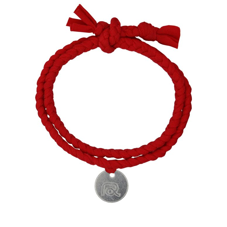 Stoff-Armband in Rot von Roobaya - Handmade in Germany  – Bild 1