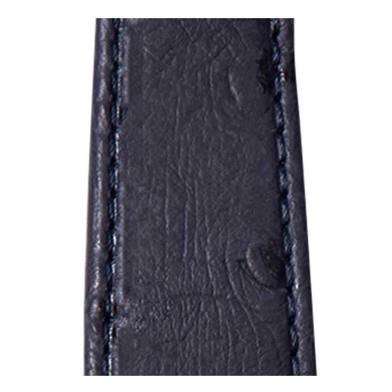 Cinturino Apple Watch in pelle granitura struzzo blu | Roobaya – Bild 3