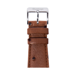 Apple Watch band Ostrich Grain Leather dark brown | Roobaya