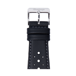 Racing Waterproof Armband in Schwarz für die Apple Watch Series 1, 2, 3 & 4 in 38mm, 40mm, 42mm & 44mm Gehäusegröße von Roobaya - Made in Germany