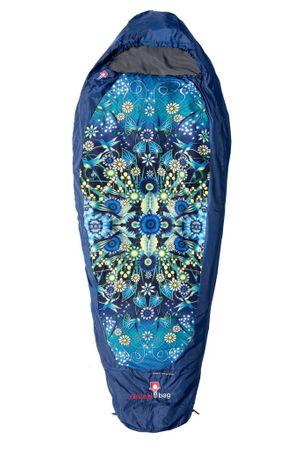 "Grüezi Bag Damen Leichtschlafsack ""Catalina Estrada"" Deep Blue, 35 x 18 x 18 cm  – Bild 2"