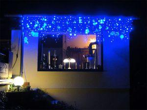 """3m LED """"Eiszapfen"""" Lichterkette Icicle light BLAU"""