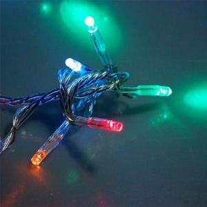 48 LED Lichterkette 4m MULTI Kabel transparent für innen